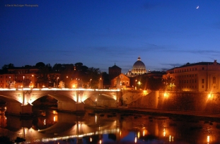 St. Peters Basilica from the Tiber River