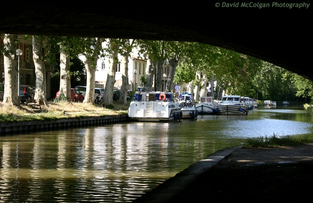 Boats on Canal du Midi