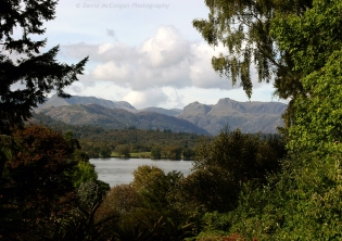 Langdale Pikes from Brockhole