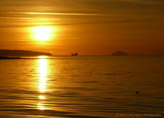 Ailsa Craig from Prestwick
