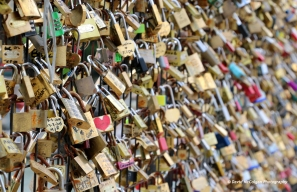 Love Padlocks at Pont des Arts
