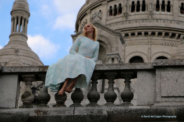 Model Shoot at Sacre Coeur