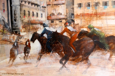 Il Palio Horserace Painting