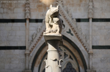 She-Wolf of Siena, Piazza del Duomo
