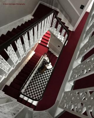 Georgian Stairwell at the 24 Royal Terrace Hotel, Edinburgh