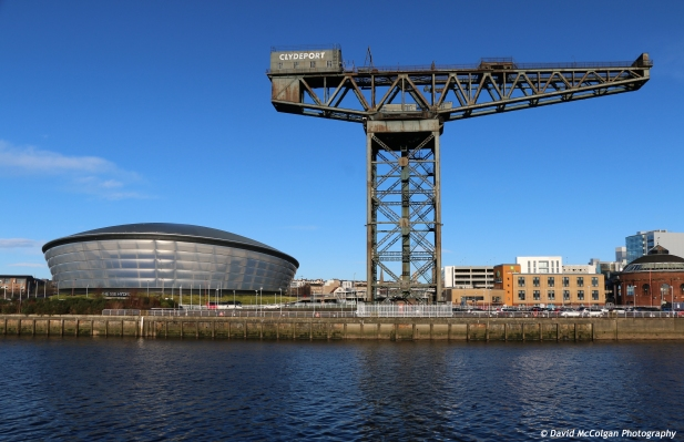 SSE Hydro and Finnieston Crane