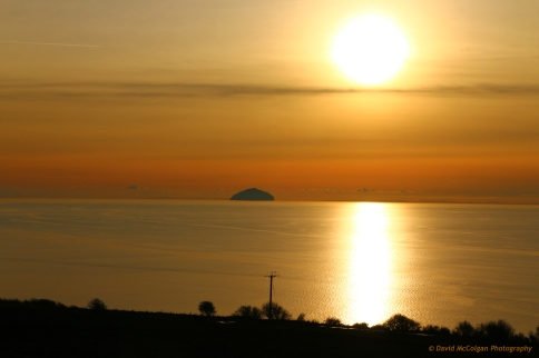 Ailsa Craig Sunset from nr Dunure
