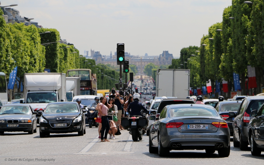 Ave. des Champs-Elysees towards Place de la Concorde