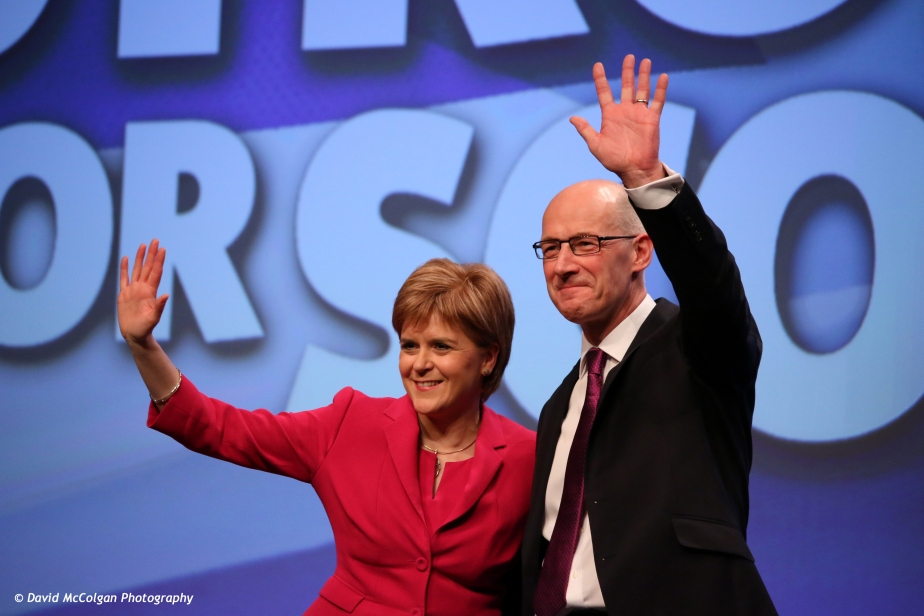 Nicola Sturgeon and John Swinney MSP