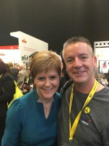 Nicola Sturgeon and David McColgan
