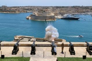 Saluting Battery at Upper Barrakka Gardens, Valletta