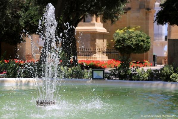 Fountain at Upper Barrakka Gardens, Valletta