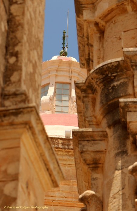 St John's Cathedral from Triq San Pawl, Mdina