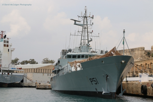 Navy Ship in the Grand Harbour, Valletta