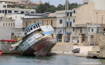 Old Boat at the Grand Harbour, Floriana