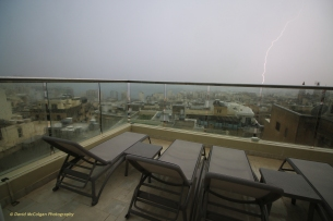 Lightning strike from the Victoria Hotel, Sliema