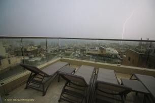 Lightning strike from the Victoria Hotel, Sliema