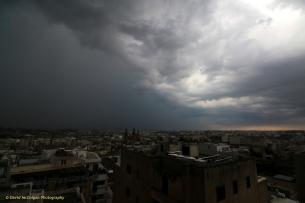Storm over Qormi from Sliema