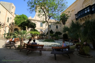 Old Parliament and President's Palace Garden, Valletta