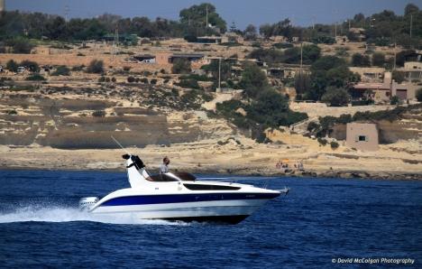 Speedboat near Marsaskala