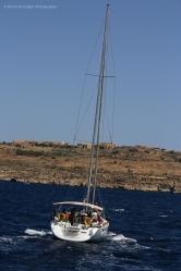 Sailing Ship off Comino