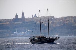 Sailing Ship and Mgarr, Gozo