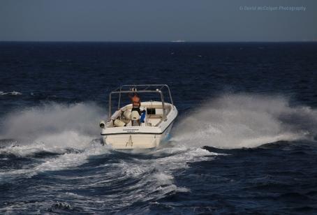 Powerboat off Bugibba