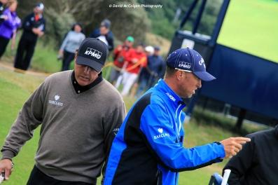 Phil Mickelson and caddie Jim 'Bones' Mackay