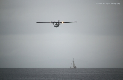 Catalina & Yacht over the Firth of Clyde
