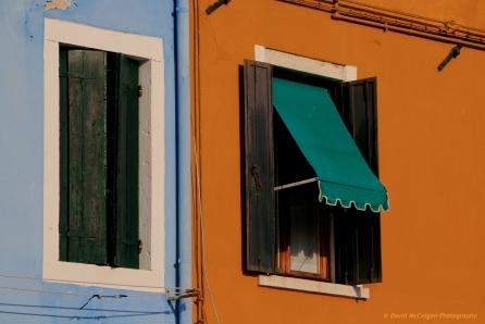 Windows at Piazza Baldassarre Galuppi, Burano