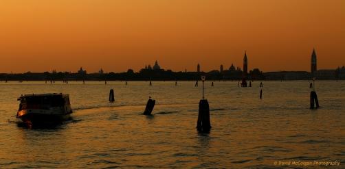 Lagoon at entrance to Venice