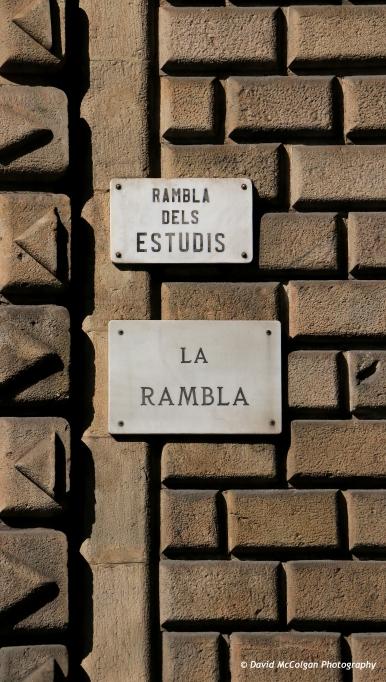 Las Ramblas streetsign