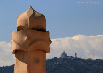 Casa Milà Rooftop to Tibidabo Cathedral